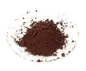 Coffee grains on the white — Stock Photo