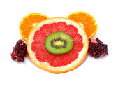 白で隔離されるフルーツのコレクション — ストック写真