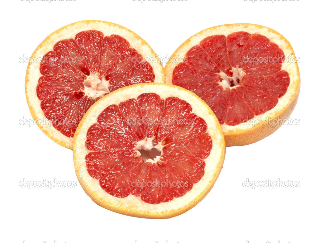 Ripe grapefruit on a white background  — Stock Photo #7486846