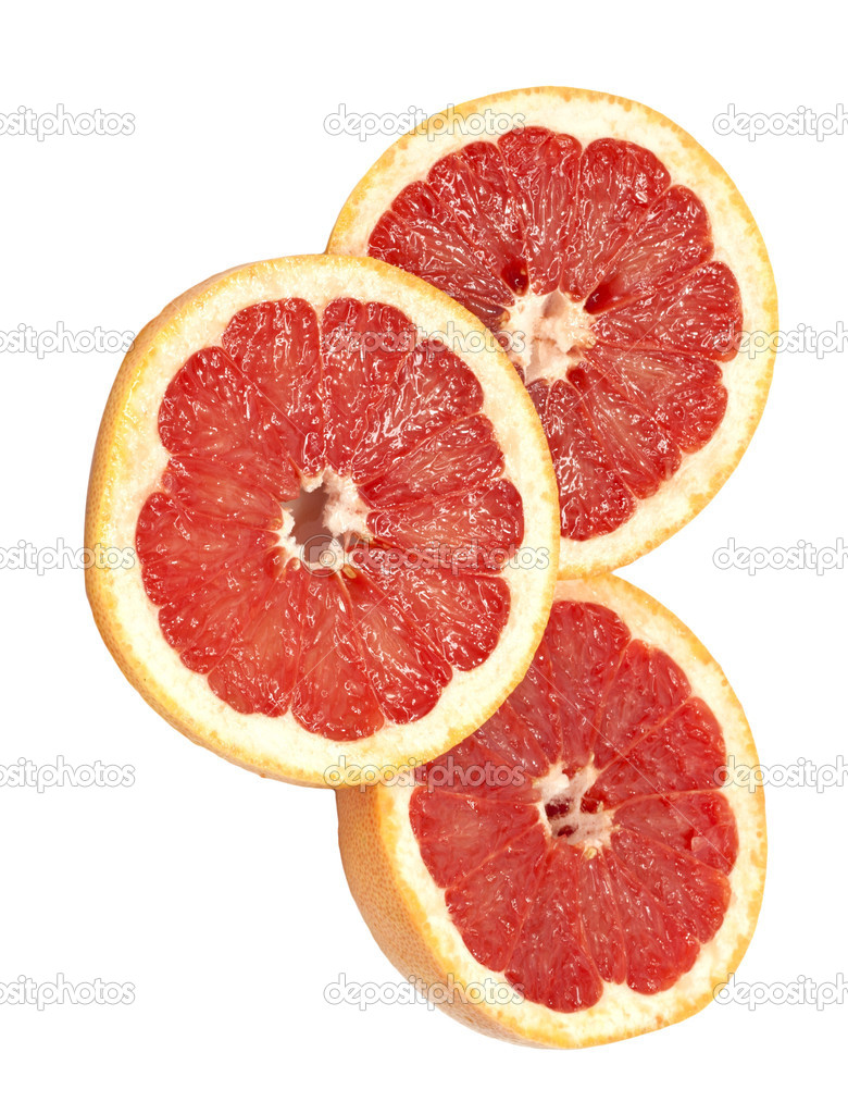 Ripe grapefruit on a white background  — Stock Photo #7486873