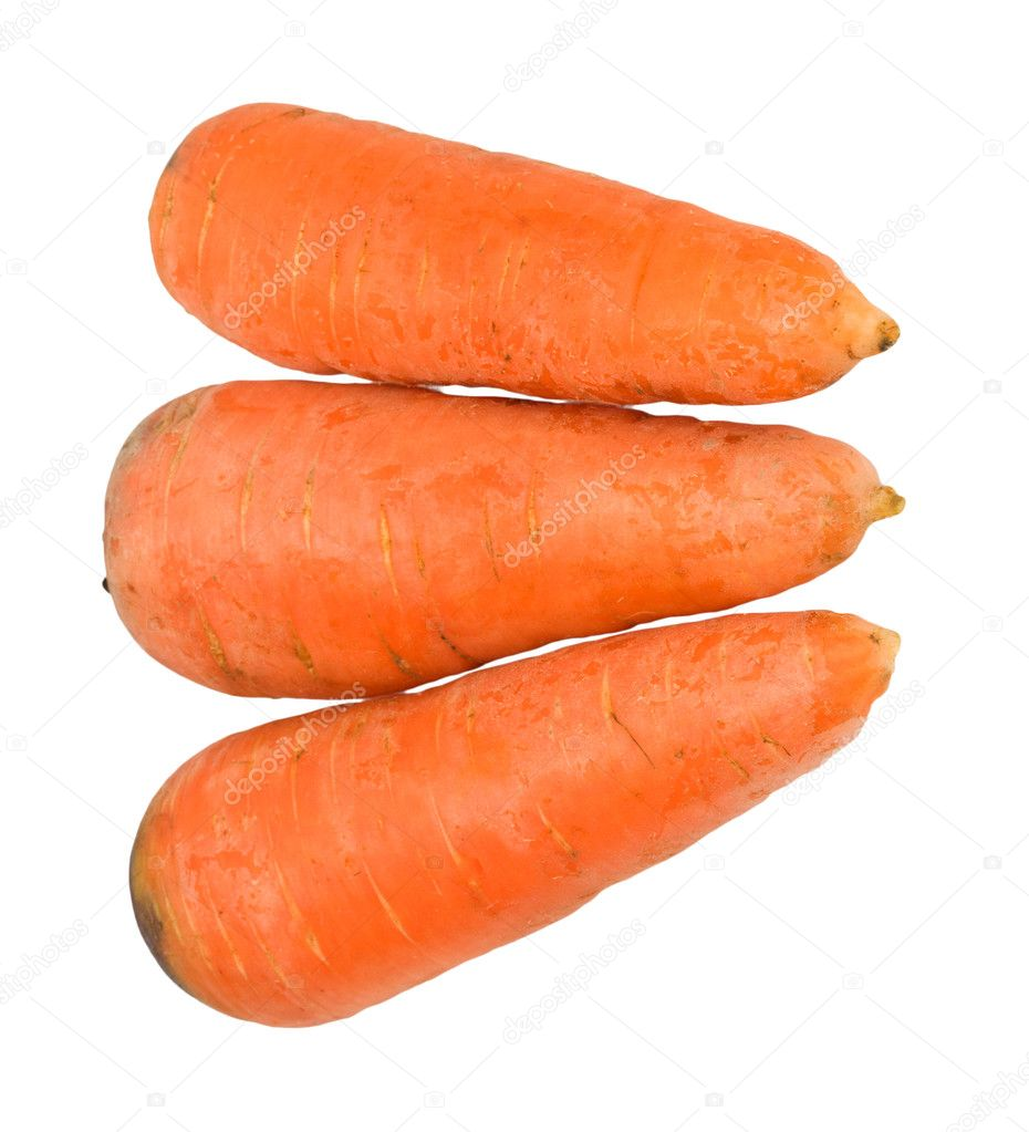 Carrots isolated on white  — Stock Photo #7486926