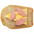 Radioactive sandwich — Stock Photo