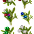 Firry twig and toys (color spheres). — Stock Photo #7504215