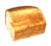 Izole beyaz zemin üzerine beyaz ekmek ekmek — Stok fotoğraf