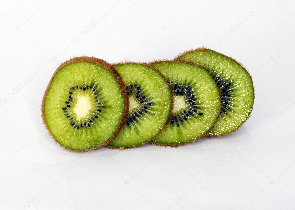 Kiwi isolated on white background — Stock Photo #7595956