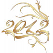 Golden New Year 2012 - Stock Vector