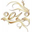 dourado ano novo 2012 — Vetorial Stock