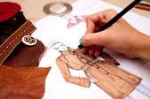 Projektowanie mody — Zdjęcie stockowe