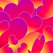 Abstract background with hearts — Stock Vector #7010614
