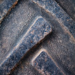 Old car tire texture — Stockfoto