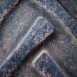 Old car tire texture — Stock Photo
