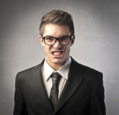 Angry businessman — Foto Stock