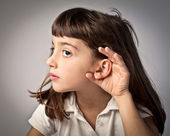Luisteren — Stockfoto