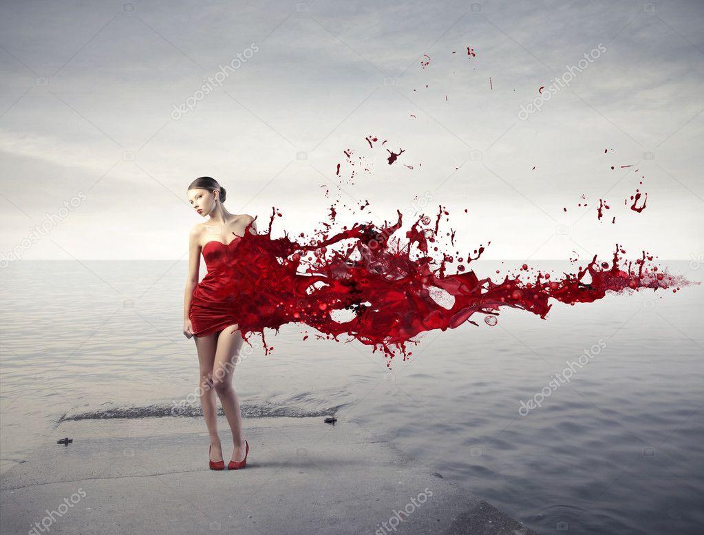 Vestido de novia de la pintura del cuerpo