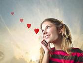 älska samtal — Stockfoto