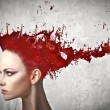 hair dye — Stock Photo