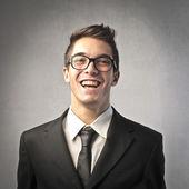 śmieszne biznesmen — Zdjęcie stockowe