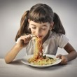 Spaghetti for lunch — Stock Photo