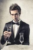 Comemorando com champanhe — Foto Stock