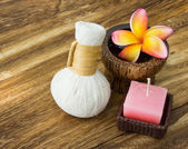 Spa concept with Frangipani flower — Stock Photo