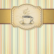 Coffee cup on background - Stockvectorbeeld