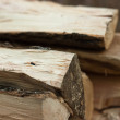 Logs of fire wood — Stockfoto