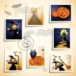 Halloween stamps — Stockvectorbeeld