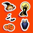 Halloween stickers — Stockvektor