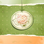 Vintage background with rose, vector — ストックベクタ