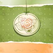 Fondo vintage con rose, vector — Vector de stock