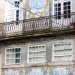 House with azulejos (tiles), Porto, Portugal - Stock Photo