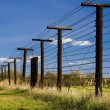 Stock Photo: Remains of iron curtain, Cizov, Czech Republic