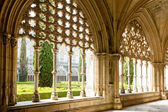 Royal cloister of Santa Maria da Vitoria Monastery, Batalha, Est — Stock Photo
