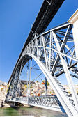Dom Luis I Bridge, Porto, Douro Province, Portugal — Stock Photo