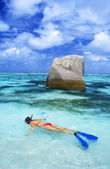 Snorkeling — Stock Photo