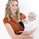 mor med sitt barn — Stockfoto