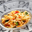 Spaghetti with tomatoes — Stock Photo