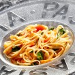 Spaghetti with tomatoes — Stock Photo #7441135
