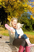 Mother with her little daughter — Stock Photo