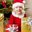 Santa Claus with Christmas presents — Stock Photo #7587562