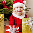 Santa Claus with Christmas presents — Stock Photo
