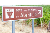 Vineyars and wine route in Alentejo, Portugal — Stock Photo