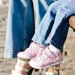 Summer shoes and children's shoes — Stock Photo