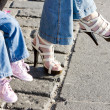 Summer shoes and children's shoes - Foto de Stock