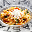Spaghetti with tomatoes — Stock Photo #7842873