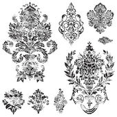 Vector Distressed Ornament Set — Vector de stock