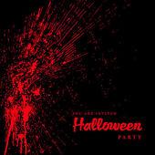 Vector Blood Spatter Halloween Background — Stock Vector