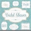 Stock Vector: Vector Bridal Shower Frame Set