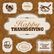 Vector Fall and Thanksgiving Frame Set - Stock Vector