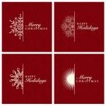 Vector Snowflake Ornament Set — Stock Vector